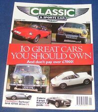 CLASSIC AND SPORTS CAR JANUARY 1997 - 10 GREAT CARS YOU SHOULD OWN