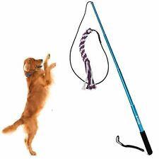 Sanzang Outdoor Interactive Dog Toys Extendable Flirt Pole Funny Chasing Tail Te