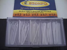 Stonfo Clear Silicon Tubing.Assorted Small Sizes,For Pole Float Stems, Rigs etc.