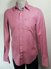 Abercrombie and Fitch mens muscle fit striped casual shirt Small