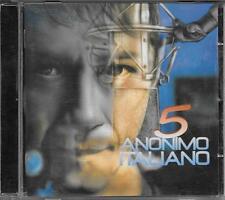 """ANONIMO ITALIANO - RARO CD FUORI CATALOGO """" 5 """" AMEDEO MINGHI"""