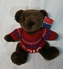 Polo Ralph Lauren Collectors Edition Christmas 2000 Teddy Bear Brown Red Blue