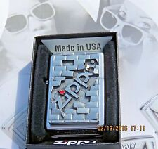 "ZIPPO - "" THE WALL"" - 3D Colored Emblem  LIGHTER RARE Collectible .. New in Box"