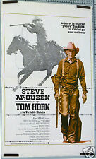 AFFICHE ANCIENNE FILM TOM HORN STEVE MC QUEEN circa 1980