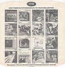 """Vintage INNER SLEEVE or SLEEVES 12"""" EMI ADVERTISING PCM etc HERMAN'S HERMITS x 1"""