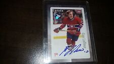 2016 Canada Post Hockey Stamp Card Autograph GUY LAFLEUR Hard Signed RARE Auto