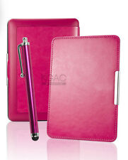 Hot Pink Leather Case for Amazon Kindle Paperwhite 5 6 WiFi Cover w/ Sleep Mode