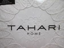 New TAHARI 100% Cotton White Embroidered Floral Duvet Set - Full/Queen