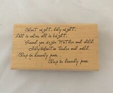 Ann-ticipations Silent Night Christian Christmas Song Hymn Verse Rubber Stamp