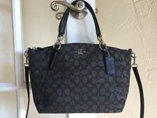 Coach F58283 Outline Signature Small Kelsey Jacquard Black Smoke