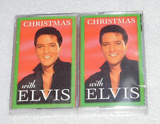NIP Christmas with Elvis (1997, 2 Cassette Tapes) BMG Holiday Songs Classics NEW