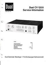 Service Manual-Instructions pour DUAL CV 1200