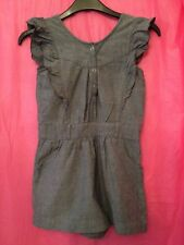 Used Girls 7-8 Years Blue Short Play Suit Jump Suit From Monsoon