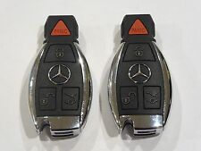 Two (2)  IYZDC07 MERCEDES BENZ OEM KEY FOB 4 BUTTON Keyless Entry Remote GENUINE