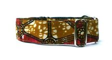 "Indio Red and Gold 1 1/2 Inch Martingale Dog Collar 1.5"". Greyhound!"