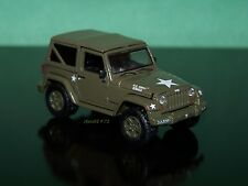 U.S. MILITARY ARMY JEEP WRANGLER 1/64 SCALE COLLECTIBLE DIECAST MODEL - DIORAMA