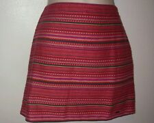 Nwt hollister pink/gray stripped print skirt  size 1