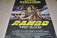 stallone RAMBO first blood   !  affiche cinema 1er sortie cinema