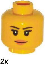2 St. NEUE LEGO  Minifiguren-Mädchen-Kopf in gelb (6100203)   93