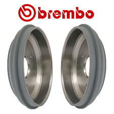 NEW Smart Fortwo 1.0L L3 08-14 Pair Set Of Rear Brake Drums Brembo 14 A683 10