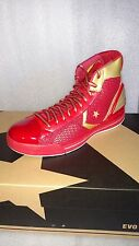 Rare/New CONVERSE star ply evo mid Red/Gold 10 Men's HARD TO FIND
