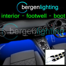 2X 1000MM BLUE INTERIOR UNDER DASH/SEAT 12V SMD5050 DRL MOOD LIGHTING STRIPS