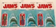 JAWS - Funko Reaction figure set - CHIEF BRODY QUINT MATT HOOPER - Super 7