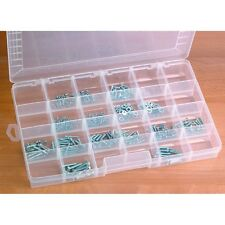 24 Bin Large Portable Parts Storage Container Case Tool Shop Mechanic Organize