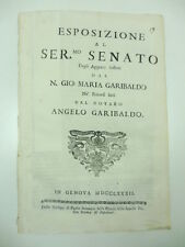 Aggravi sofferti dal N. Gio Maria Garibaldo, notaro Angelo Garibaldo