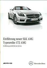 Einführungsschrift  AMG Mercedes AMG W172 R172 SLK Werkstattbuch