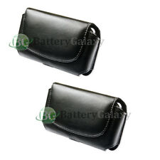 Cell Phone Leather Case Holster Belt Clip Black Pouch for Apple iPhone 5 5G 5S