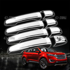 For 11-15 Ford Explorer Edge Plastic Chrome Door Handle Covers No Pass Keyhole
