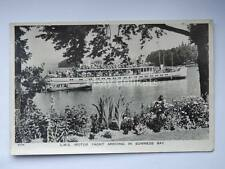 BOWNESS BAY L.M.S. Motor Yacht nave ship  Cumbria UK old postcard