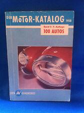 Der Motor-Katalog 1958 100 Autos Band 2  7.Auflage Alfa BMW Opel Ford VW Porsche
