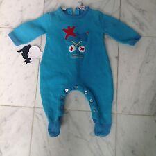 agatha ruiz de la prada Blue One Piece Footie Baby Boys 3-6m EUC