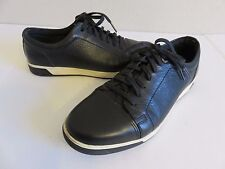 Cole Haan Sneaker Shoes Black Leather Cap Toe Mens 8W