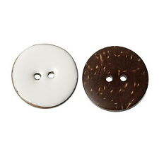 BD  10pcs Coconut Shell Round Buttons Fit Sewing and Scrapbook 25mm