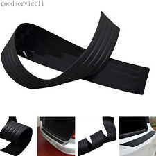 Black Rubber Vehicles Rear Bumper Guard Protection Strip Trim Cover Pad For Jeep