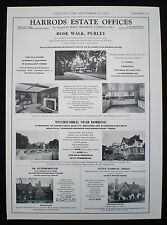 THE OLD HOUSE ROSE WALK PURLEY SURREY / LONDON ESTATE AGENT ADVERT 1967