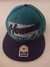 CHARLOTTE HORNETS BASKETBALL SNAPBACK HAT 47 BRAND HARDWOOD CLASSICS purple GREE