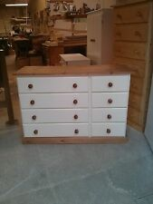 OLD MILL FURNITURE COUNTRY COLLECTION 4+4 DRAWER CHEST CREAM / WAX NO FLAT PACKS