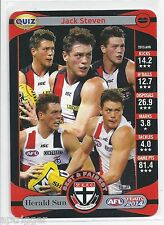 2014 Teamcoach Herald Sun Quiz (15) Jack STEVEN (How many times did.......)