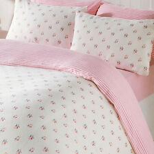 PINK Rosebud King Size Biancheria da Letto e Federe Set Copripiumino 100% cotone spazzolato