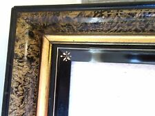 ANTIQUE EASTLAKE FITS 9X11 PICTURE FRAME INCISED DEEP COVE GOLD WOOD VICTORIAN