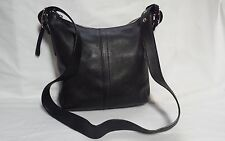 COACH BLACK LEATHER MESSENGER/CROSS BODY HANDBAG
