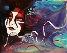ANDRE DLUHOS Venice Italy carnival mask dream party limited edition PRINT 08/75