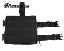 Molle Tactical Drop Leg Panel Utility Pouch - Black A