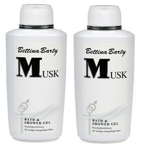 Bettina Barty MUSK Bath & Shower Gel Dusch Gel 2 x 500ml Sparpack