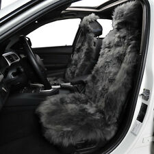 100% Natural Australian Gray Sheepskin Fur Universal Car Seat Cover Set
