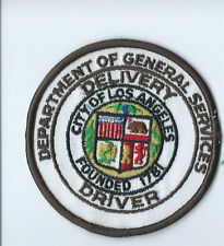 Delivery Driver City of Los Angeles Dept gen Services driver patch 3-7/8 #1329